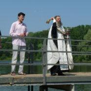 Иерей Александр Карабин освятил водоем «Зеленая роща» в Саранске