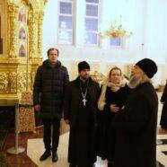 Сестра Святейшего Патриарха Елена Михайловна Гундяева посетила храм святых равноапостольных Мефодия и Кирилла